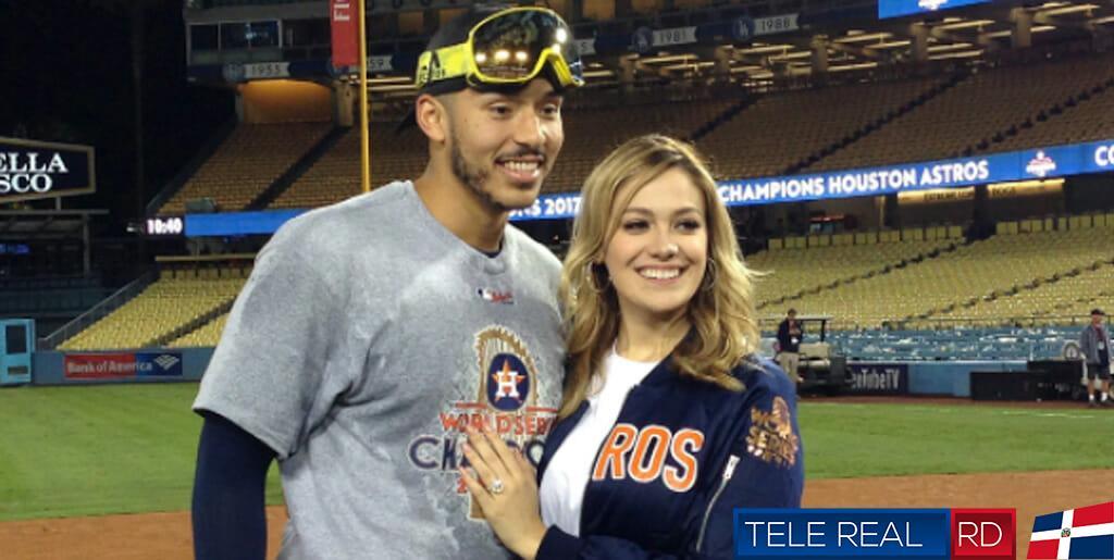 Carlos Correa y Su esposa